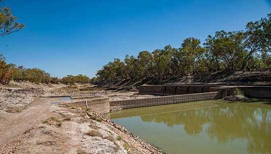 Bourke Weir on Darling River