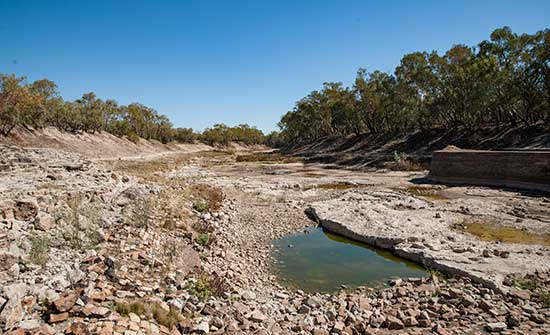 Darling River below weir
