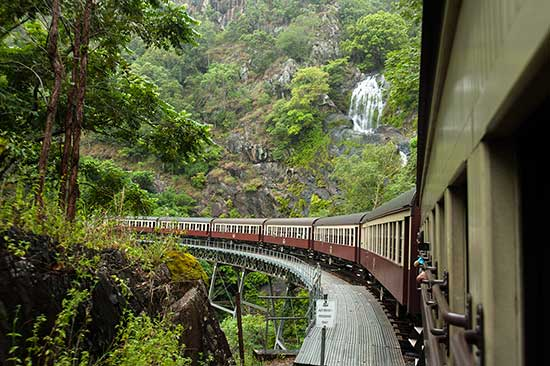 Train to Kuranda near Cairns Qld
