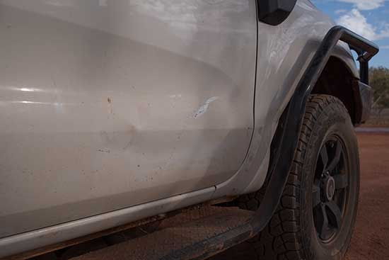 Damage from  the kangaroo