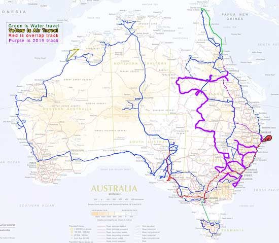 Australia Travel Map