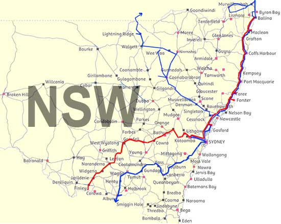 NSW Travel Map