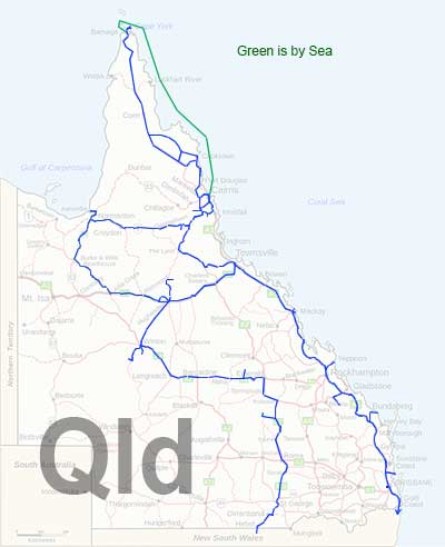 Queensland Travel Map