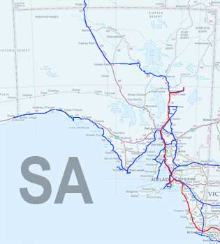 South Australia Travel Map
