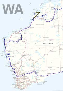 Western Australia Travel Map